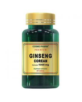 Ginseng Corean 1000 mg, 60 tablete, Cosmopharm (Premium)