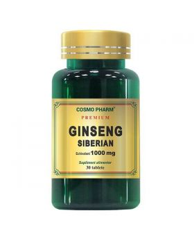 Ginseng Siberian 1000 mg, 60 tablete, Cosmopharm